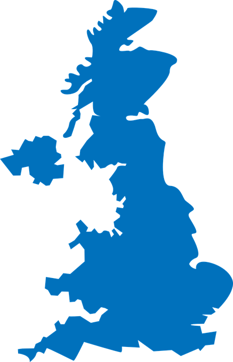 United Kingdom map European Union